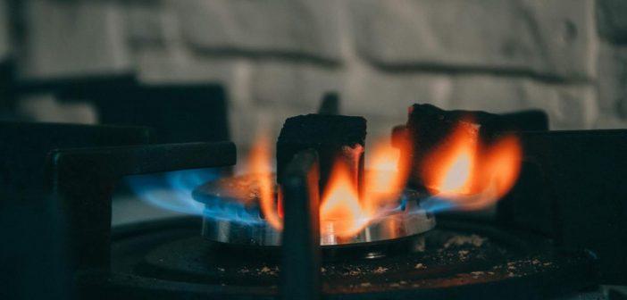 chauffage gaz flammes